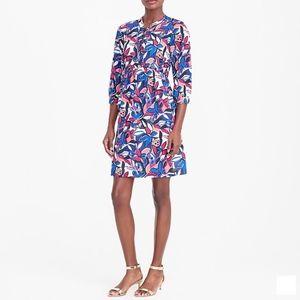 J. Crew Lace Up Printed Dress Size XXL